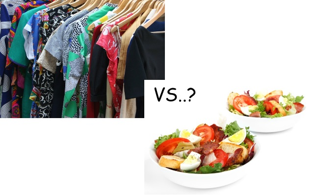 What are the similarities between food and clothing?
