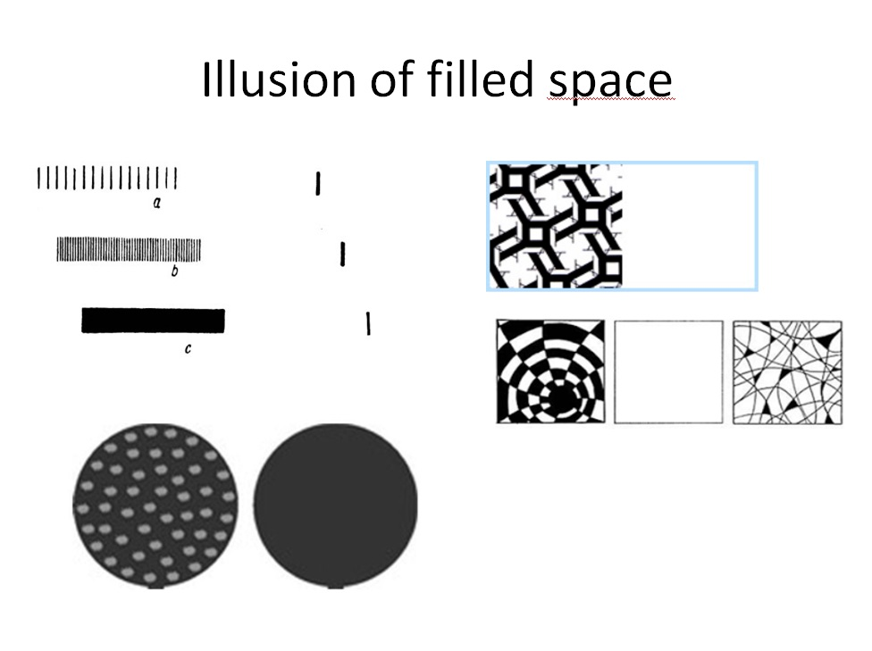illussion of filled space
