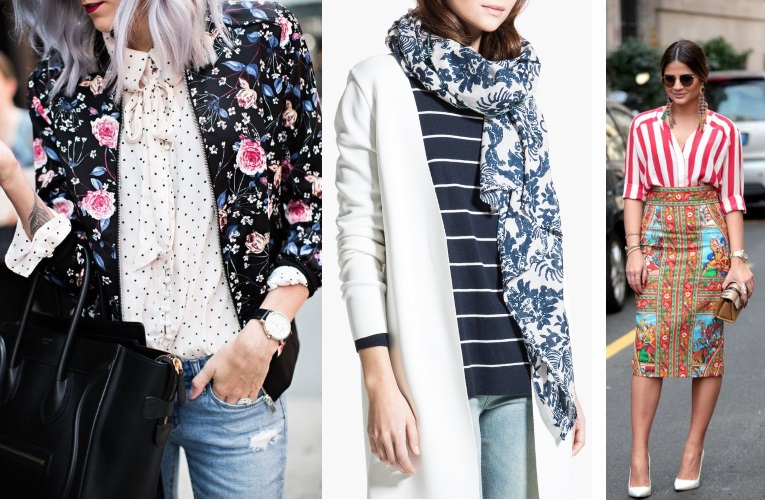 how to mix patterns. stripes