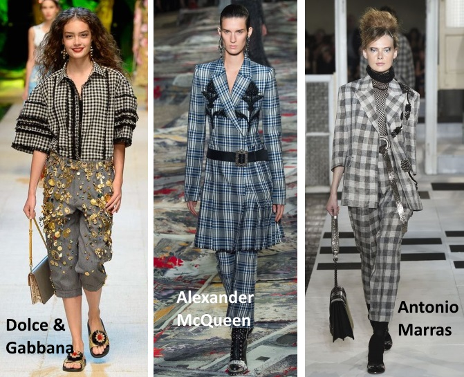 trends spring summer 2017 check plaid