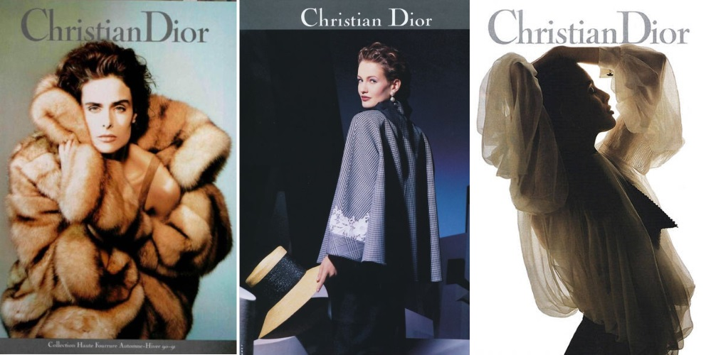 Christian Dior campaing 1990