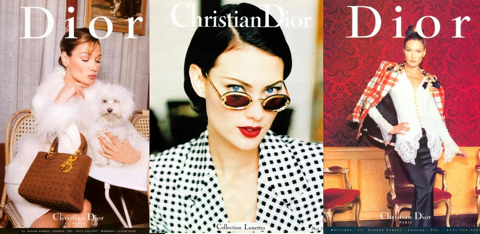 Christian Dior campaing 1995