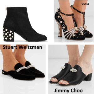 pearls  embellishments trend shoes