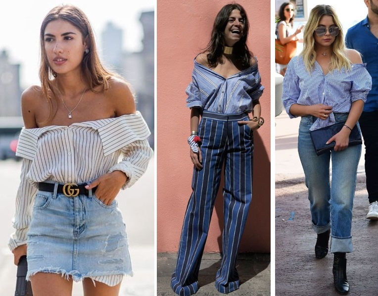 ways to wear a shirt. off shoulders