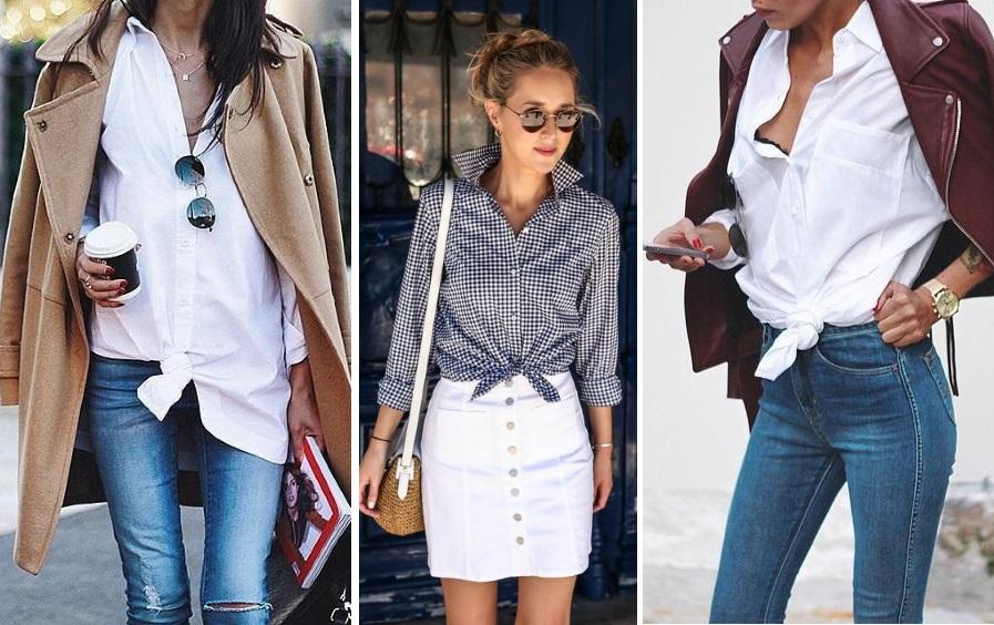 ways to wear a shirt. knot