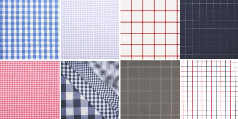 Gingham and windowpane check