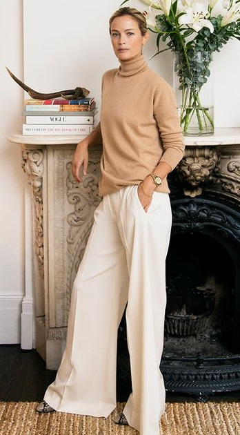 Inspo: White Wide Trousers for Fall-Winter
