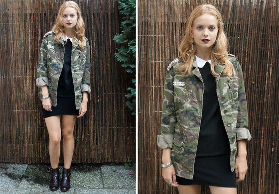 MIXING STYLES: GOOD GIRL + MILITARY